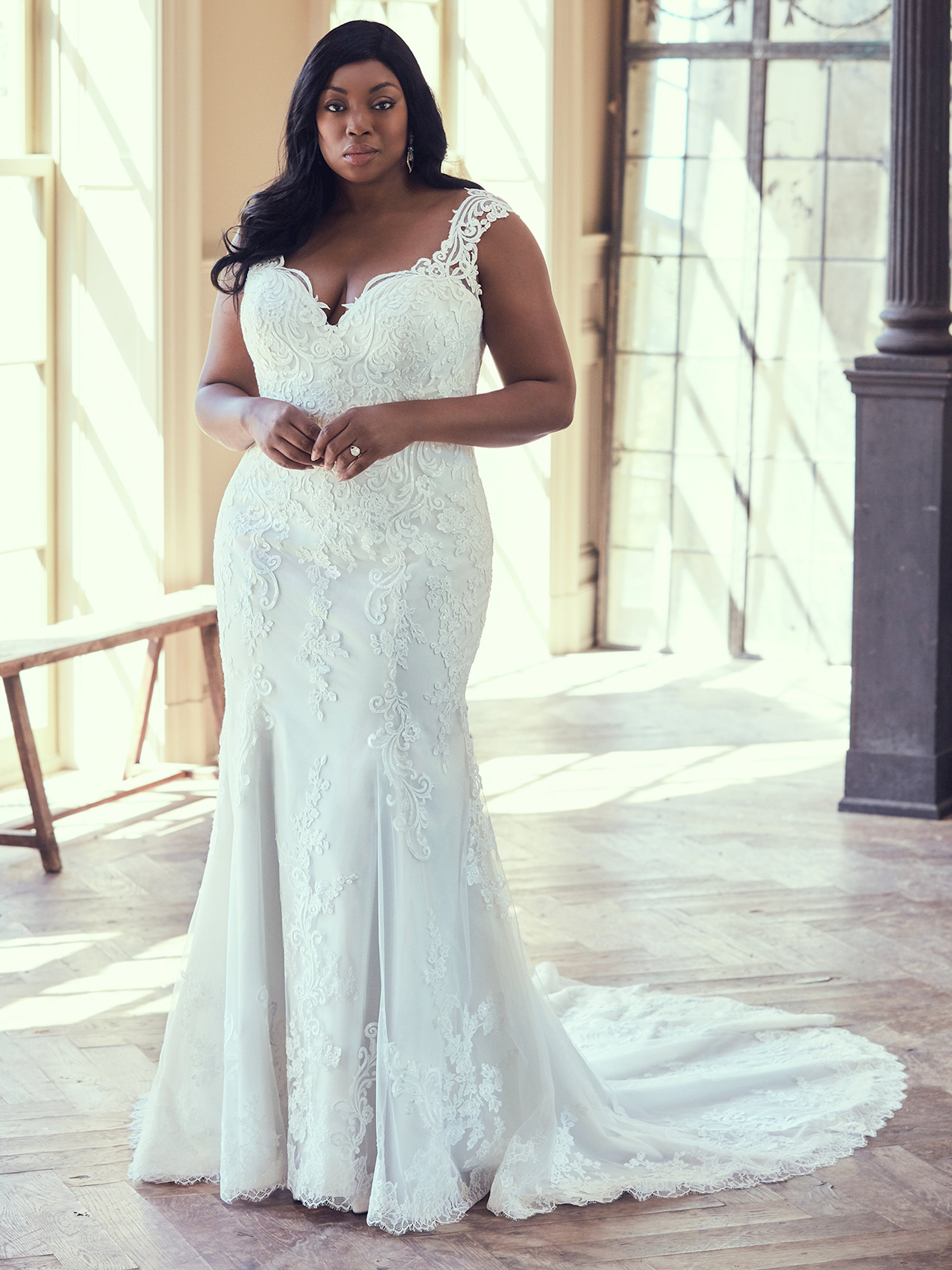 Plus size wedding dresses - a woman in a beautiful wedding dress