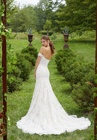 Blu by Morilee Style #5714 Off-the-Shoulder Sweetheart Lace Mermaid Wedding Dress