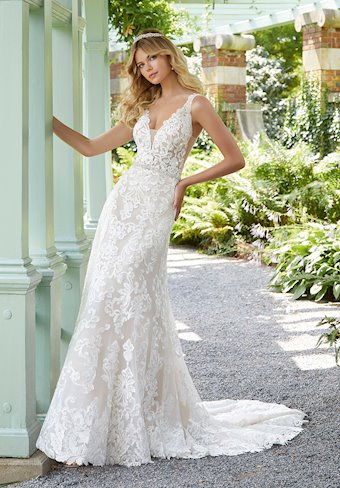 Morilee Style #2025 A-line Wedding Dress with Deep V-neckline