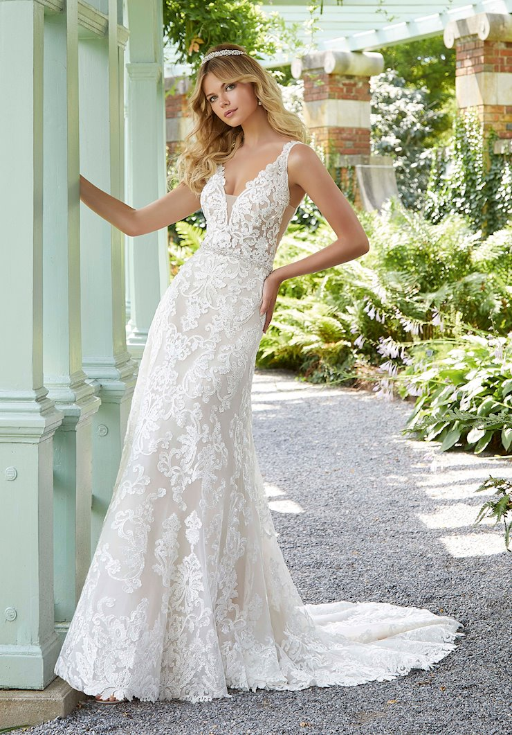 Morilee Style #2025 A-line Wedding Dress with Deep V-neckline  Image