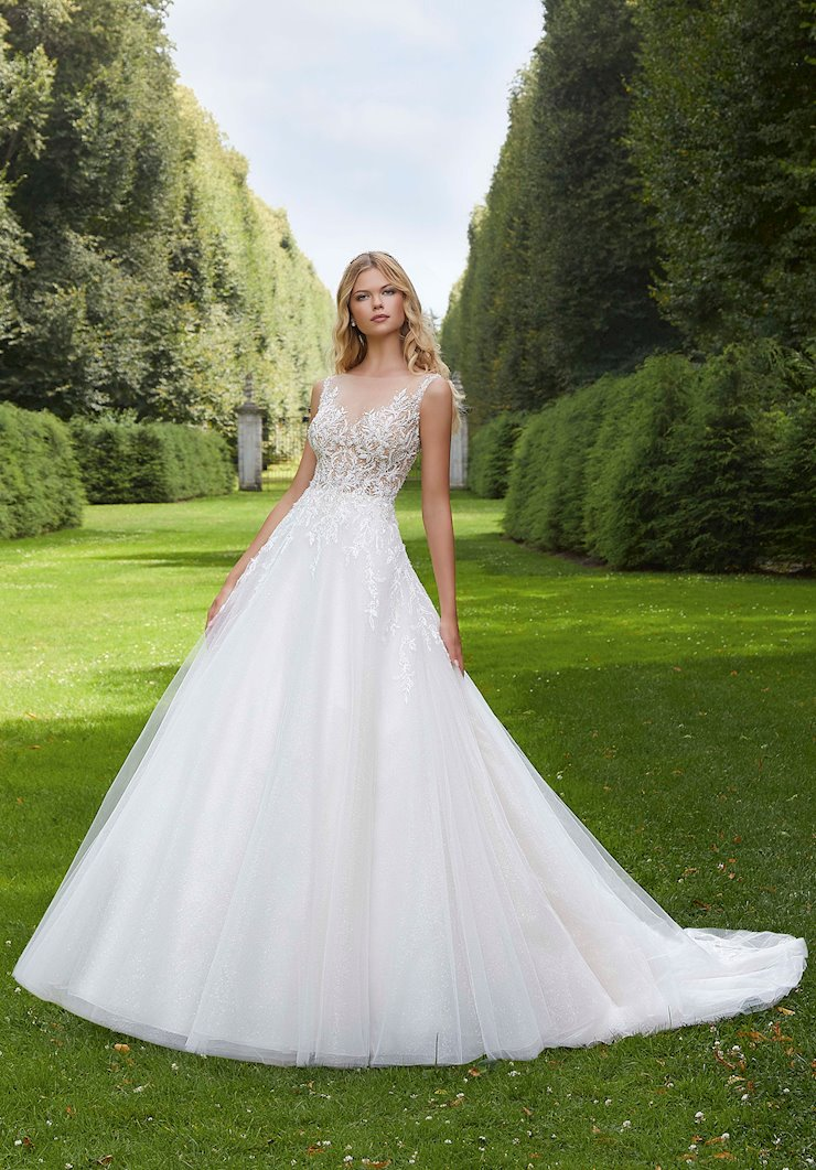 Morilee Style #2037 Beaded and Crystal Ballgown with Keyhole Back  Image