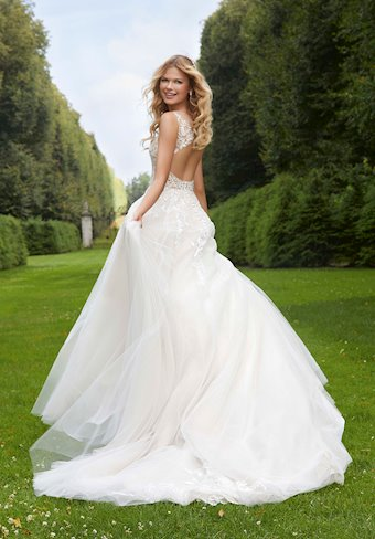 Morilee Style #2037 Beaded and Crystal Ballgown with Keyhole Back