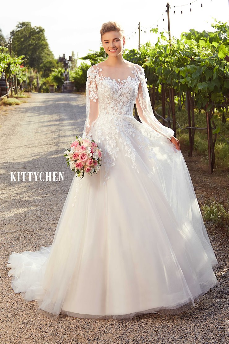 Kitty Chen Not all gowns are in the store.  This is a catalog of available styles. Image