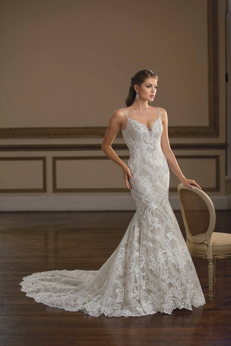 Casablanca Style #C144 Bohemian Lace Fit and Flare Wedding Dress with a Sexy Low Back Image