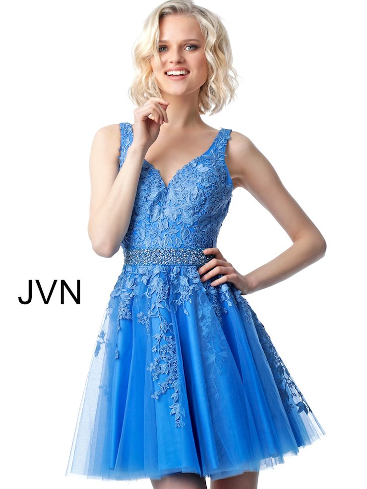 JVN Short Blue Homecoming Dress