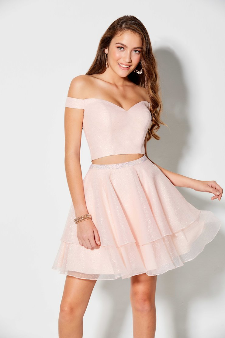 Ellie Wilde Pink Two Piece Homecoming Dress