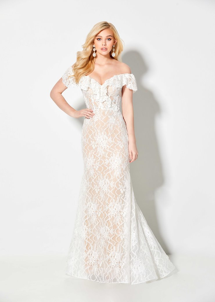 Ellie Wilde White Lace Off the Shoulder Dress