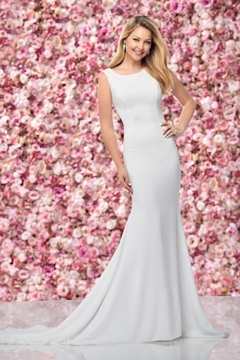 Minimalist Fit and Flare Gown with Illusion Back