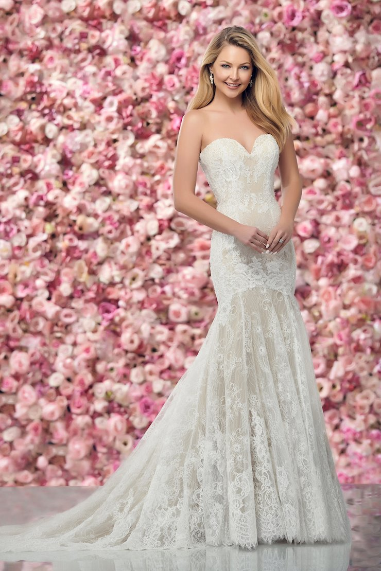 Stunning Strapless Beaded Lace and Tulle Trumpet Gown