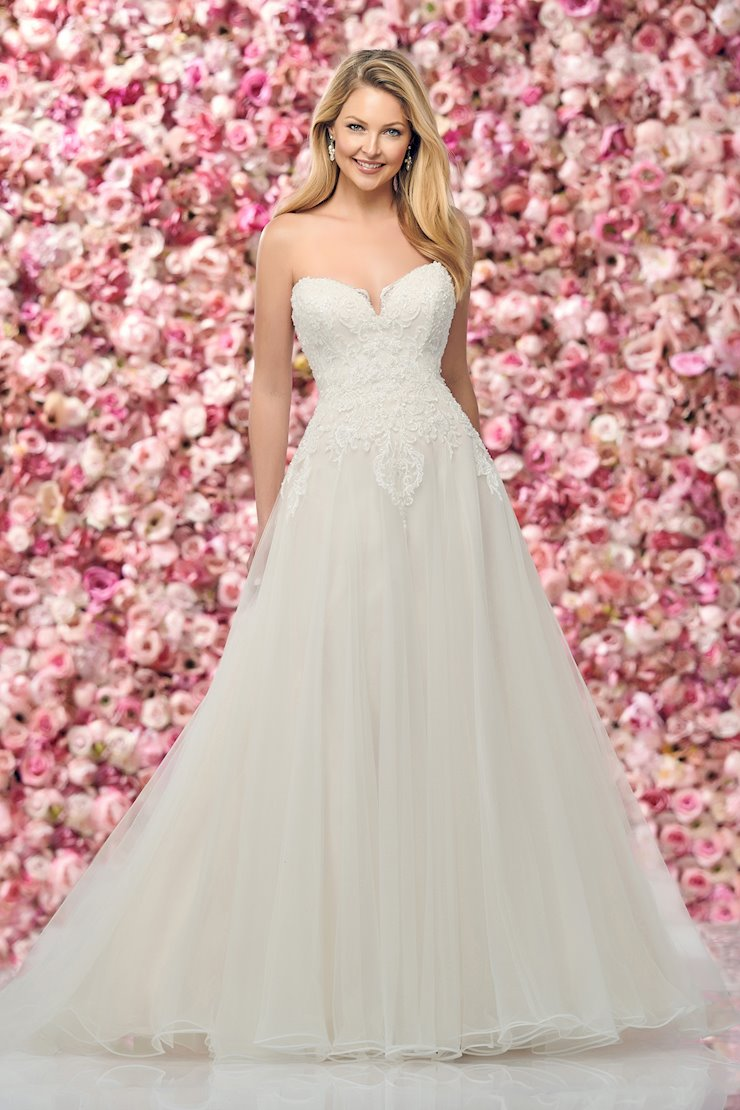 Awe-Inspiring Strapless A-Line Gown with Beaded Lace