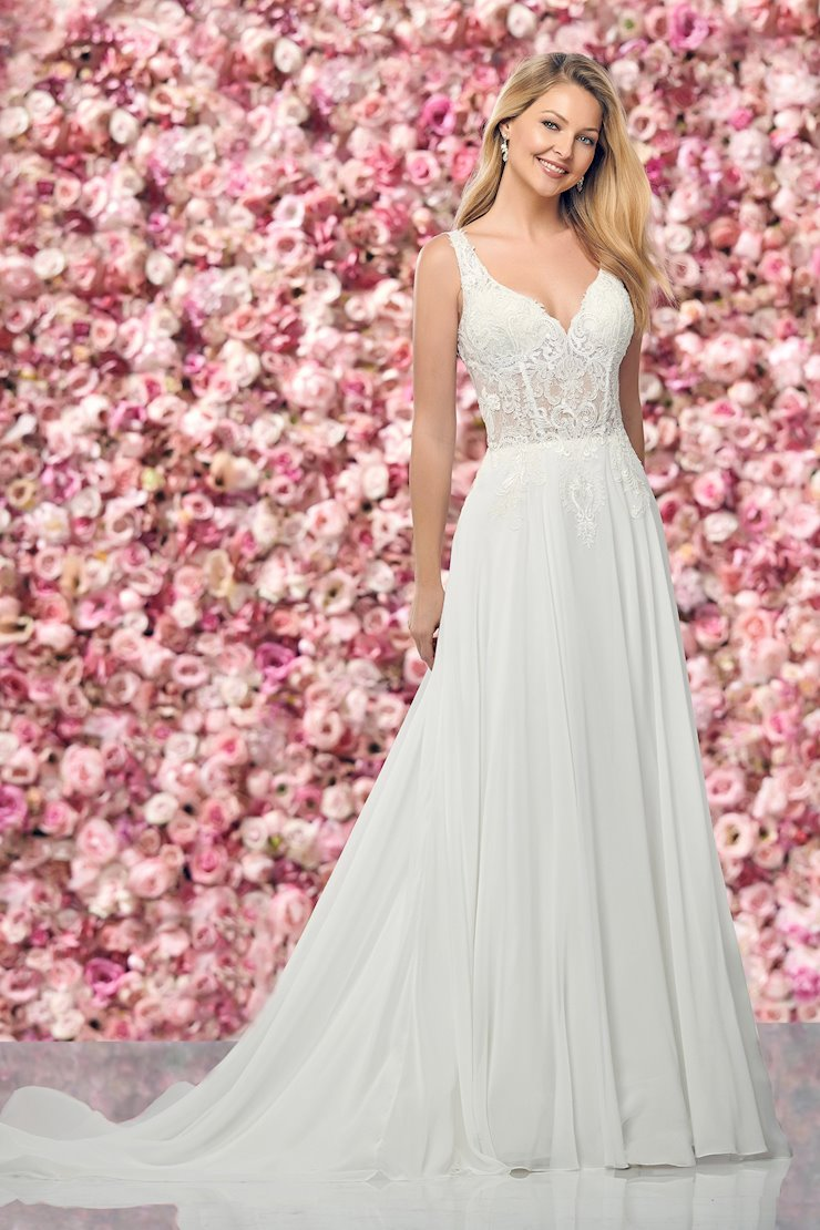 Eye-Catching Lace A-Line Gown with Illusion Back