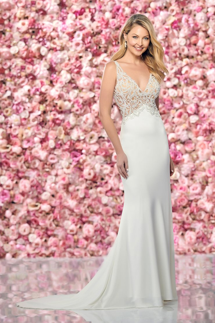 Sexy Sleeveless Gown with Beaded Tulle Illusion Bodice