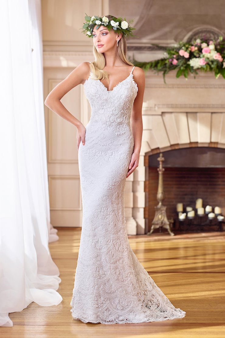 Stunning Lace Gown with Spaghetti Straps