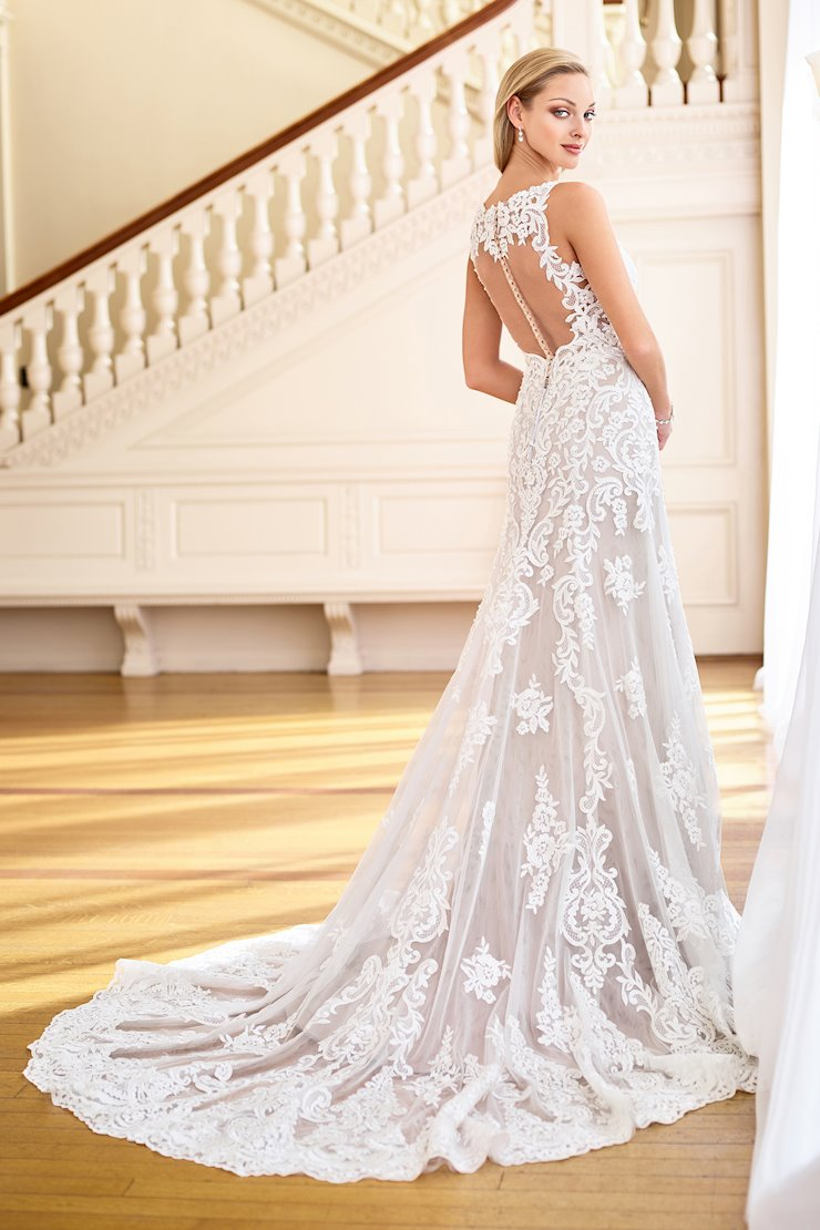 Exquisite Beaded Lace A-Line Gown with Illusion Back