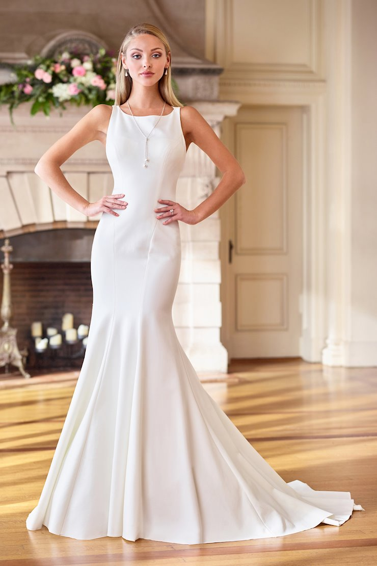 Simple Jersey Trumpet Gown with Jewel Neckline
