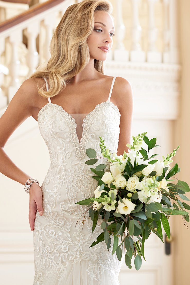 Timeless Trumpet Gown with Spaghetti Straps and Sequin Bodice
