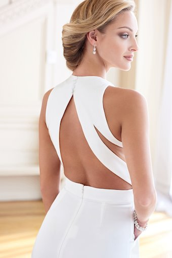 Striking Two-Piece with Plunging Neckline and Detachable Cape