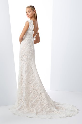 Bohemian Lace Gown with Cap Sleeves and V-Neckline