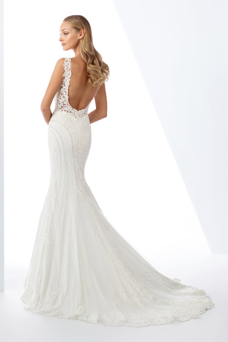 Luxurious Lace and Beaded Tulle Fit and Flare Gown