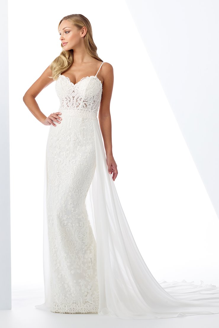 Sexy Beaded Lace and Chiffon Fit and Flare Gown