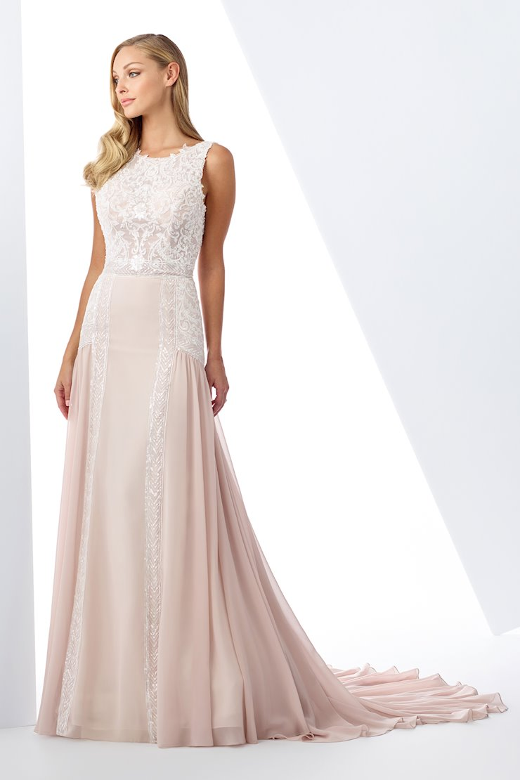 Gorgeous Lace A-Line Gown with Sheer Lace Bodice