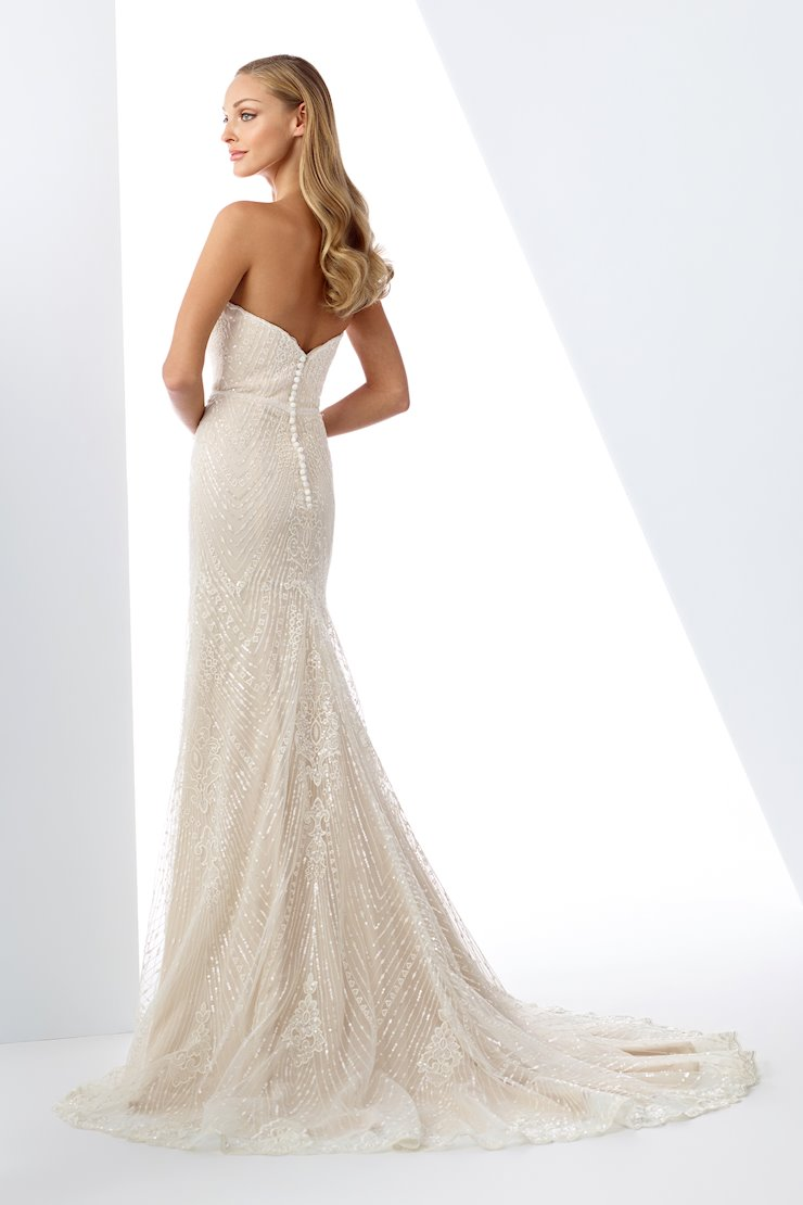 Strapless Embroidered Lace and Tulle Fit and Flare Gown