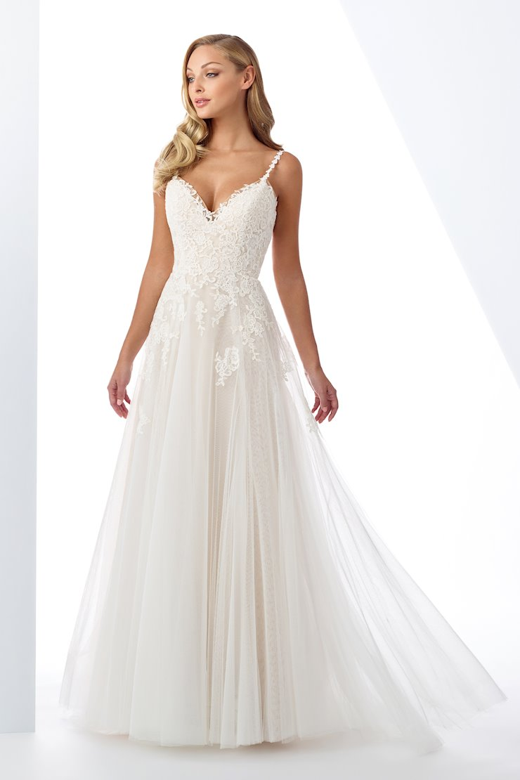 Romantic Lace and Tulle A-Line Gown