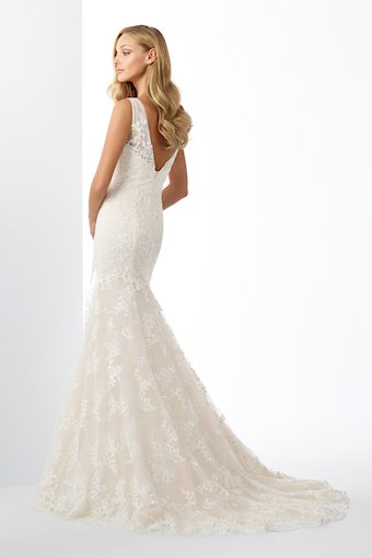 Showstopping Lace and Tulle Fit and Flare Gown with Sequins