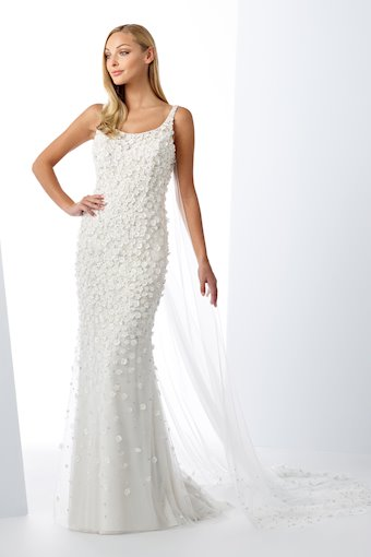 Jaw-Dropping Tulle Fit and Flare Gown with Floral Beading