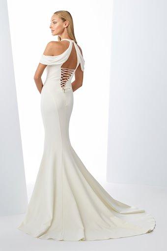 Radiant Crepe Trumpet Gown with Halter Neckline