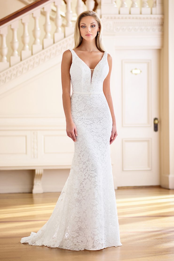 Breathtaking Fit and Flare Gown with V-Neckline
