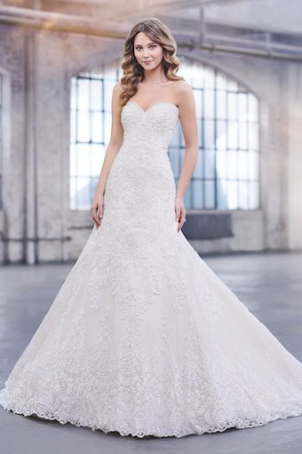 Katharine Strapless Tulle and Lace over Satin A-Line Dress