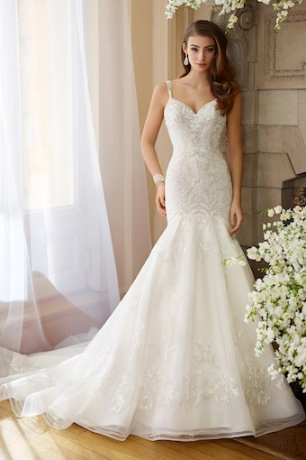 Bess Enchanting Trumpet Gown with Hand-Beaded Straps