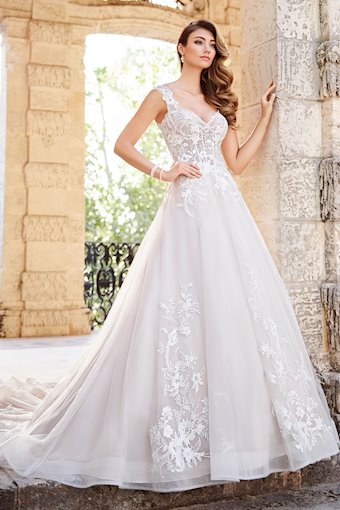 Rosetta Timeless A-Line Gown with Lace Cap Sleeves