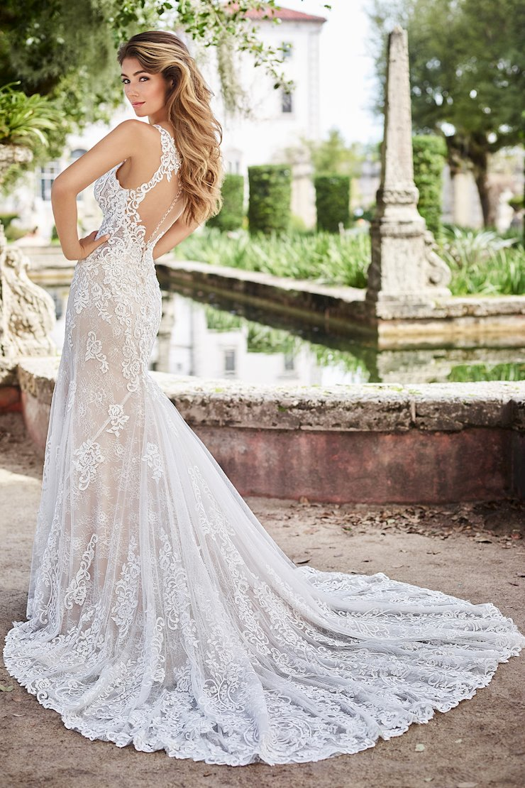 Cecile Magnificent Sleeveless Lace Fit and Flare Gown