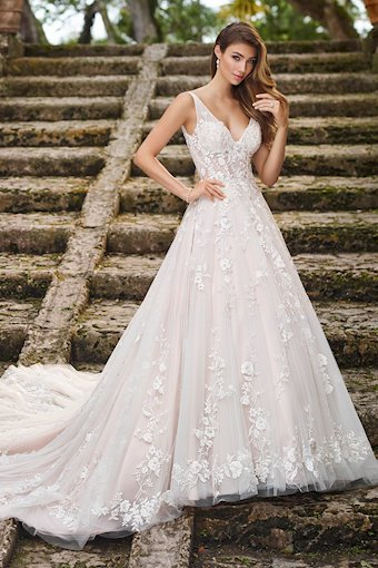 Rosabelle Marvelous Lace with Metallic Threading A-Line Gown