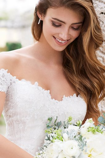 Lorena Dreamy Lace and Organza Gown with Sheer Back
