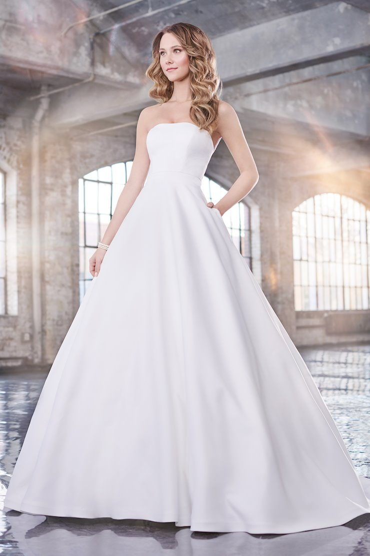 Carol Bold Strapless Satin Ball Gown