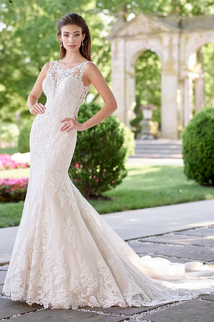 Allegro Brilliant Sequin Lace Over Satin Trumpet Gown