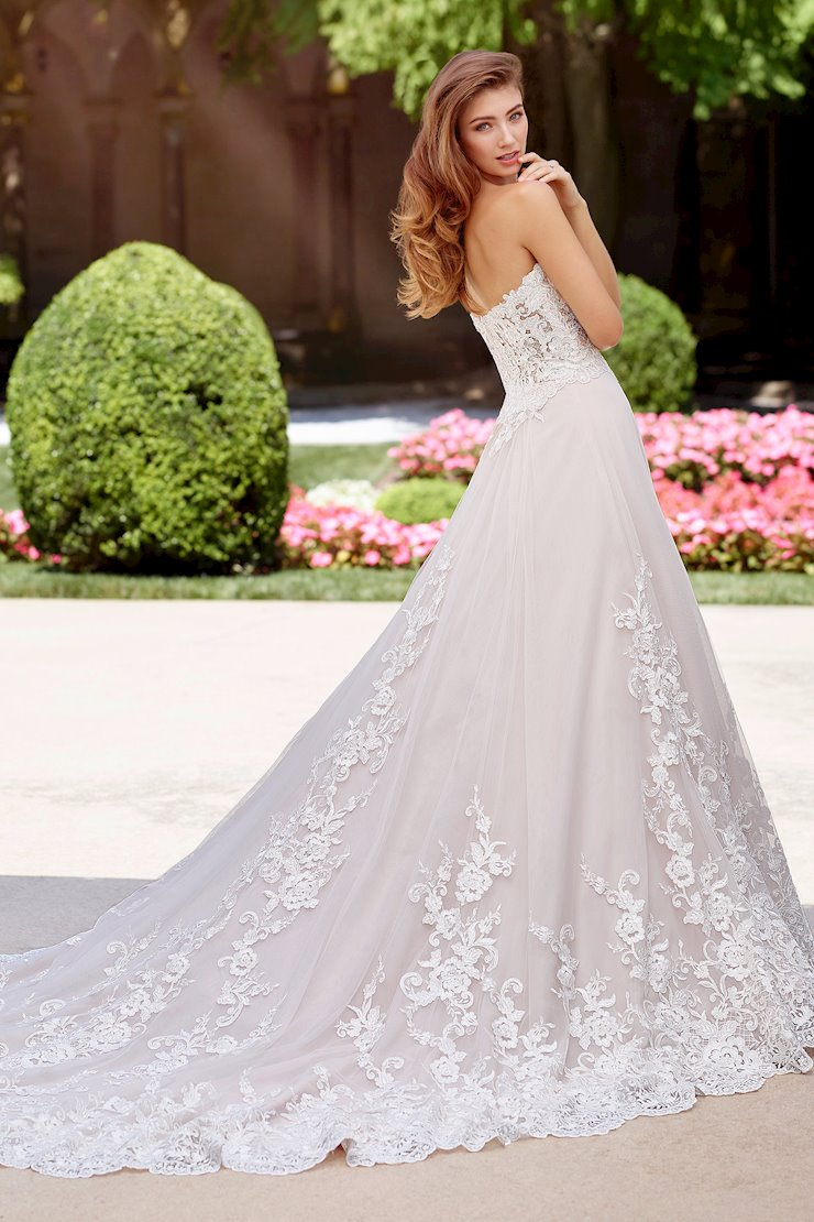 Madrigal Sublime Strapless Lace, Tulle and Beaded A-Line Gown