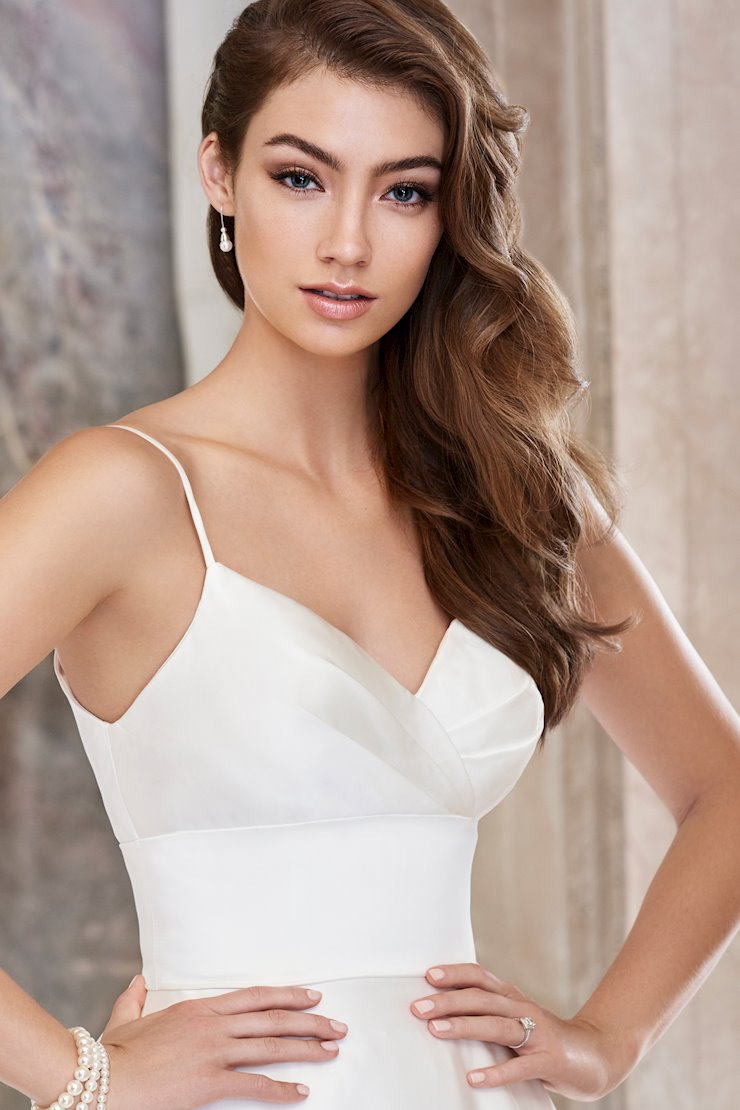 Fiona Breathtaking Satin Ball Gown with Cut-Out Floral Motifs