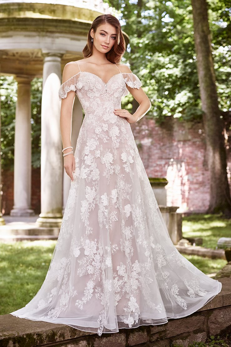 Eleanor Bohemian Lace Floral and Sequin Organza A-Line Gown