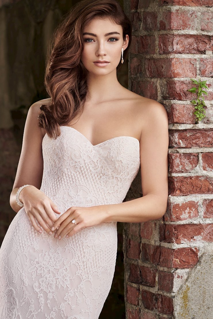 Zoe Sleek Strapless Fit and Flare Gown with Sweetheart Neckline