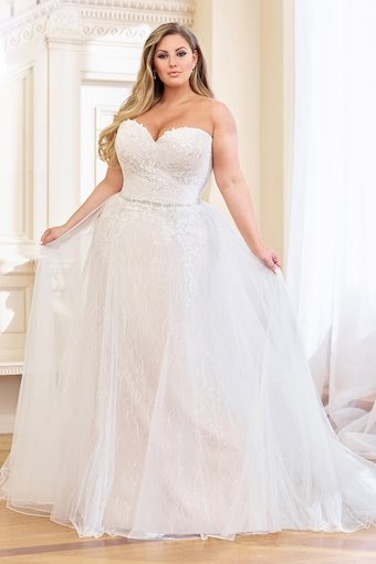 Sally Playful Lace and Sequin with Ruched Tulle A-Line Gown