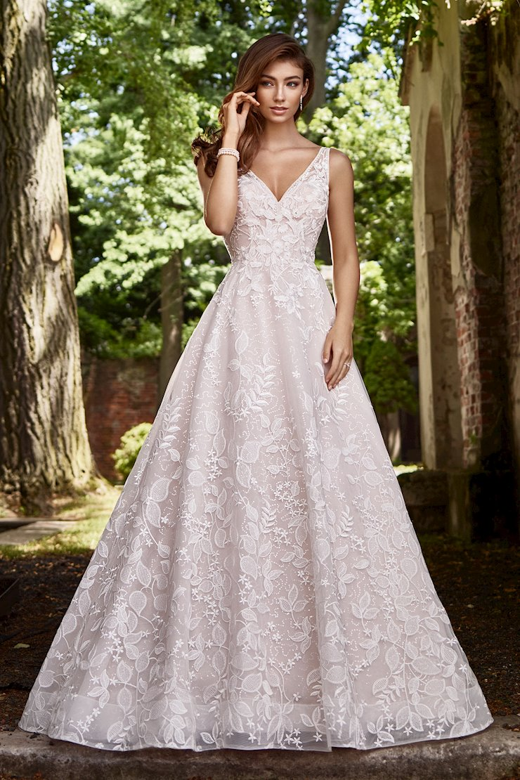Odette Whimsical Floral and Leaf Lace Motif A-Line Gown