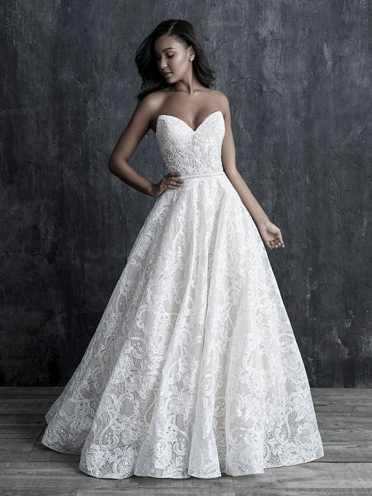 Allure Couture Style #C553 Chic Strapless Ballgown Wedding Dress with Beaded Midriff Details Image