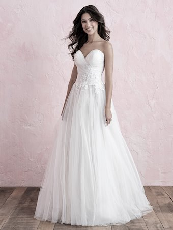 Allure Romance Style #3263 Strapless Sweetheart Tulle A-line Wedding Dress