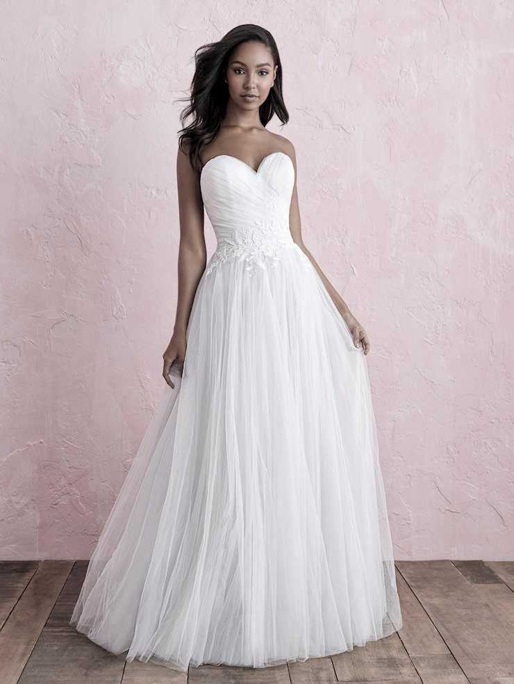 Allure Romance Style #3263 Strapless Sweetheart Tulle A-line Wedding Dress Image