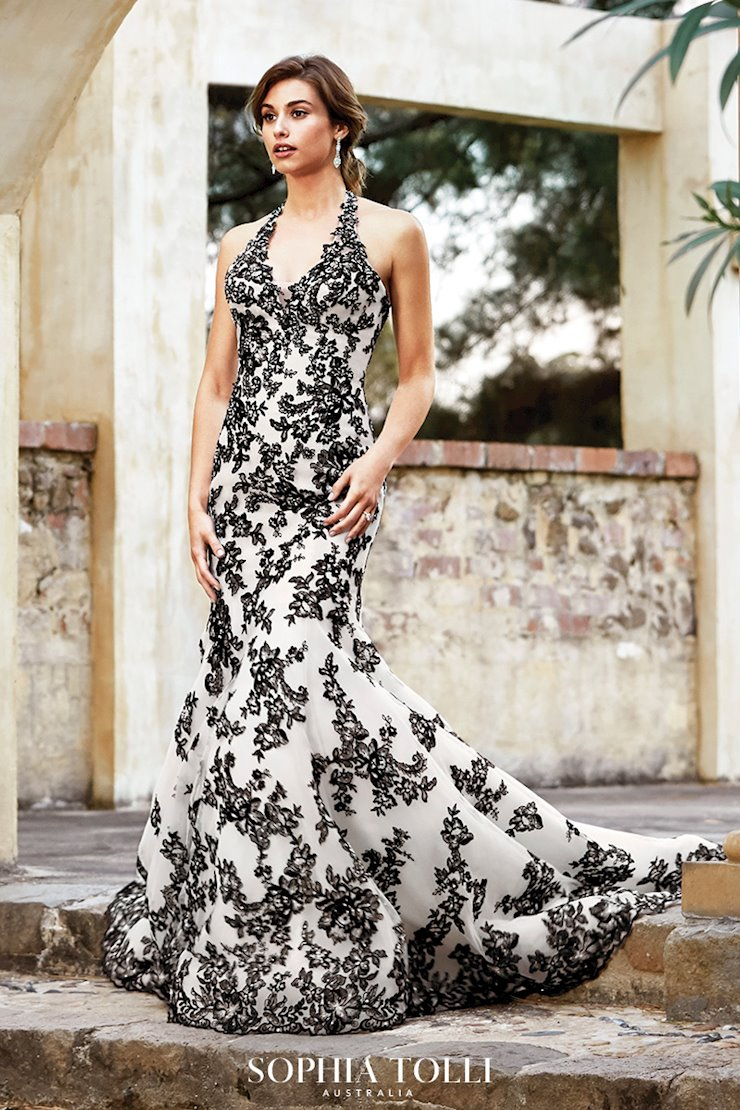 Classic Lace Halter Neck Trumpet Gown Marnie