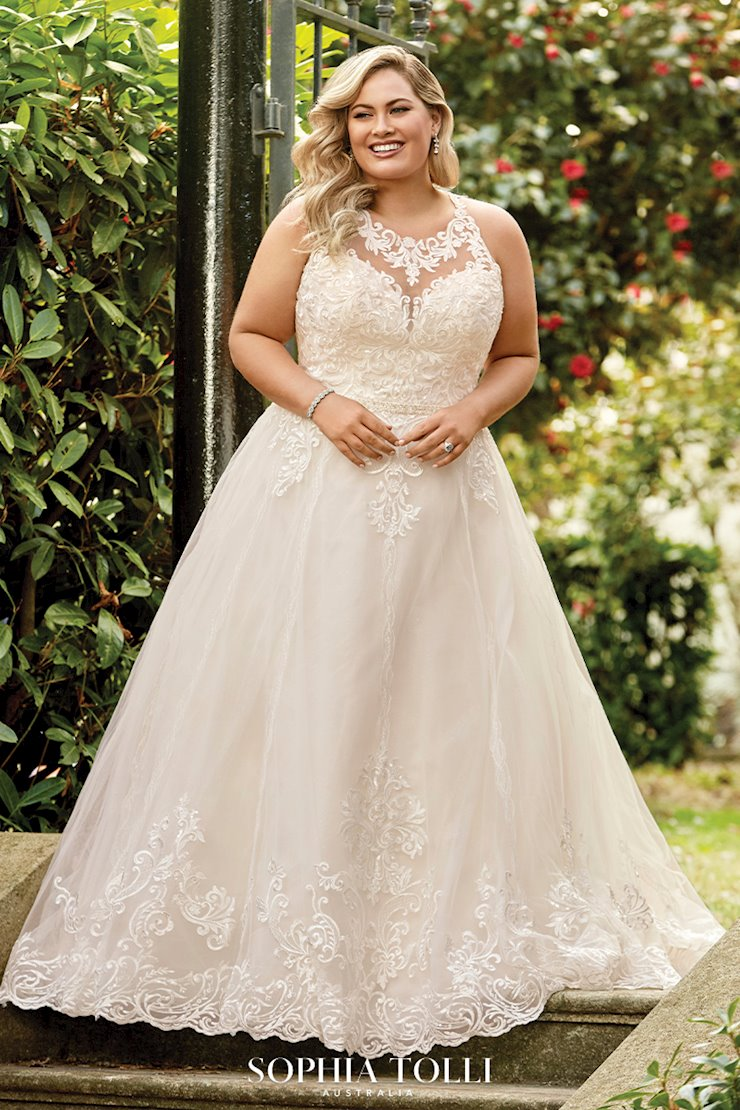 Lace High Neck A-Line Wedding Dress McKenna